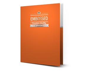 embossed folders